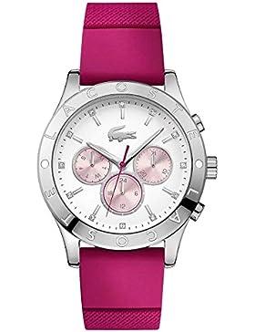 Lacoste Damen-Armbanduhr Analog Quarz Silikon 2000941