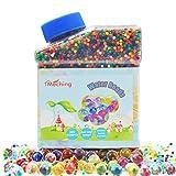 Perlas de gel para el agua, multicolor, 260 g (40000 unidades) Jelly bolas de cultivo de agua para niños juguetes sensoriales táctiles, jarrones, plantas, boda y decoración del hogar