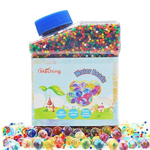 Perlas de Gel de agua 260G (40000pcs) Rainbow Mix Orbeez Jelly agua creciente bolas para Kids táctil SENSORIAL juguetes, jarrones, plantas, boda y decoración del hogar
