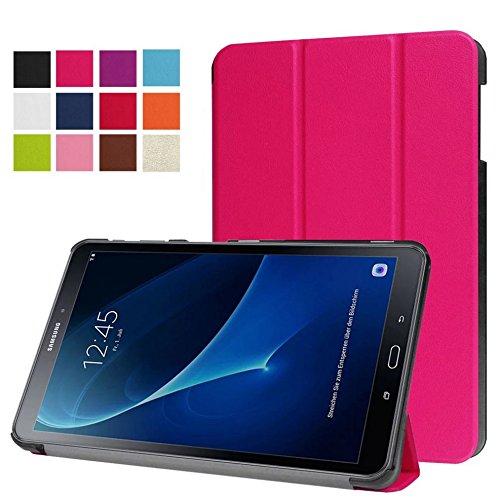 10.1 Book Cover (Schutzhülle für Samsung Galaxy Tab A SM-T580 SM-T585 10.1 Zoll Smart Slim Case Book Cover Stand Flip (Pink) NEU)