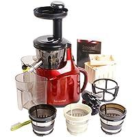 Sanovital 2VB • Extracteur de Jus Compact Vertical • Idéal pour votre cure Détox • Rotation Lente 43 tours • Silencieux • Compatible lave vaisselle • Sans BPA • Couleur Rouge métallisée, Gris métallisé, Blanc ou Noir …