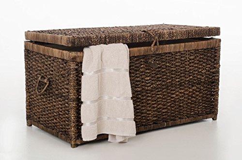 VIVANNO Elegante Truhe Wäschetruhe aus Wasserhyazinthe
