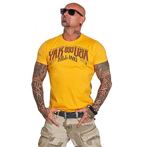 Yakuza Original Herren Fallout T-Shirt, Gr.-5XL, gold fusion