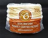 200 Stück 80/200mm Korbfilter Kaffeefilter - Beem, Cuisinart, Phillips, Gastroback usw.