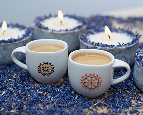 Duftkerze Soja Lavendel Beige Blau Kerze aus Bio Sojawachs ätherisches Lavendel Öl Geschenk - 5