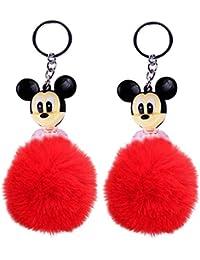 Majik Fancy Key Rings For Girls, Royal Pom Pom Bag Charm Keychain Hand Bag Charm Key Ring And Key Chain, Fashionable...