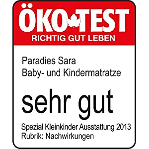 paradies 076025 kindermatratze sara 70 x 140 cm ko test sehr gut baby. Black Bedroom Furniture Sets. Home Design Ideas
