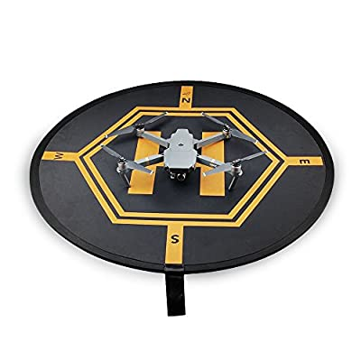Landing Pad, Portable Drone Landing Mat for DJI phantom 2 3 4 inspire 1 Mavic Pro, Fast-fold/2 Side Use/ with Light Reflection Stripe RC Quadcopter Helicopter Apron Helipad