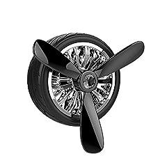 Idea Regalo - NYE NEIL AIR FORCE 3 Profumatore Deodorante per Auto Ricaricabile Diffusore di Profumo Automatico Senza Alcool. Adatto perAromaterapia, Rimuove Fumo e Odori Ottima idea regalo (nero)