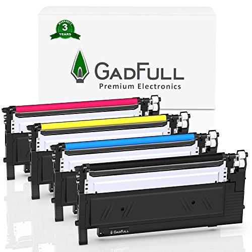 GadFull 4 Pack Toner kompatible mit Samsung CLP-360 | CLP-366 | CLP-365 | CLP-368 | CLX-3300 | CLX-3305 | CLX-3306 | C460W | C410W | Entspricht dem Original CLTK406S / ELS |1500 Seiten -