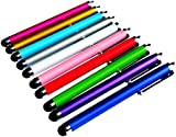 PENCILUPNOSE® 10 x QUALITY STYLUS PENS for TOUCH SCREENS, IPAD , TABLET , IPHONE, SAMSUNG ETC