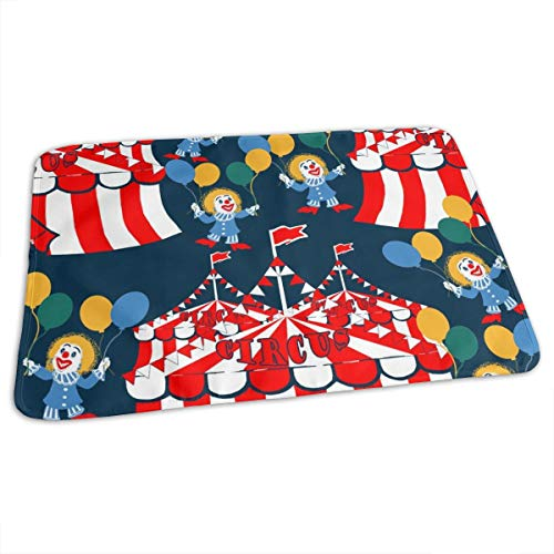 Scottie Dog Dog Cherry Blossom Spring - Cute Dog Design - Cerulean Baby Portable Reusable Changing Pad Mat 31.5x21.5 inches -