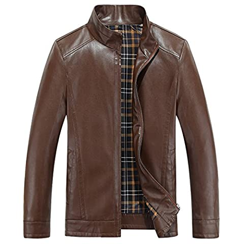 Men's business casual PU leather jacket coat Lambskin Leather Car
