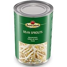6er Pack ROYAL ORIENT Sojasprossen in Wasser [6x 425g] Soybeam Sprouts + ein kleines Glückspüppchen - Holzpüppchen
