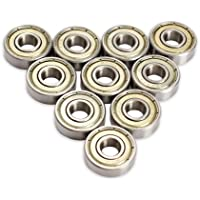VKTECH® Lot de 10 roulements 608 pour skateboard et trottinette