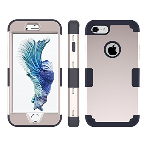 GHC Cases & Covers, Für iPhone 7 Trennbare Kontrastfarbe PC + Silikon Kombi-Gehäuse ( Color : Purple ) Gold