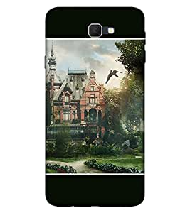 Takkloo Flying eagle ( cloudy sky, beautiful scenery, beautiful garden, church) Printed Designer Back Case Cover for Samsung Galaxy J7 (2017) :: Samsung Galaxy J7 2017