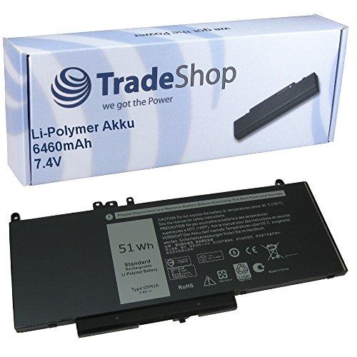 Hochleistungs Li-Polymer Akku 7,4V / 6460mAh für Dell Latitude 3150 3160 E5250 E5450 E5550 ersetzt 07FR5J 08V5GX 0F5WW5 0R9XM9 0WYJC2 6MT4T 79VRK 7FR5J 8V5G 8V5GX FDX0T G5M10 R0TMP R9XM9 TXF9M WTG3T - 6460 Notebooks