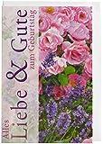 Karte Geburtstag Motiv Midikarte Lavendel rosa Buschrosen Pergamentstr Briefumschlag weiss - Liefermenge 10 Stück