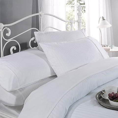 Emma Barclay Ritz Parure De Lit Avec Housse De Couette Et Taie D'Oreiller En Coton 300 Fils Blanc 1