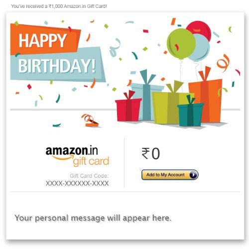 Birthday Gift Cards Buy Birthday Gift cards online at Amazonin – Gift Card Happy Birthday