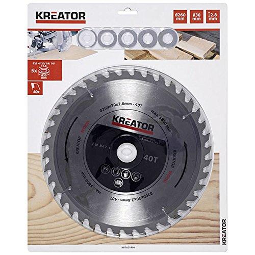 Preisvergleich Produktbild KRT021400 Kreissägeblatt Holz ø260x30x2,8mm 40 Zähne