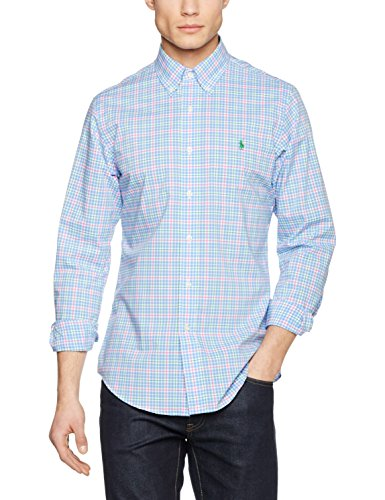 Polo Ralph Lauren Sl Bd Ppc Sp-Lo 1533 Harbor Bl, Chemise Casual Homme Mehrfarbig (HARBOR BL XW75Y)