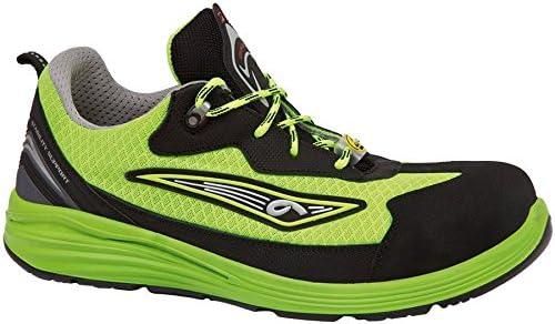 Giasco up123y39 Yellow – Zapatos de seguridad bajo S1P negro/neón verde