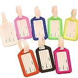 Nikgic Kofferanhänger Gepäckanhänger Kofferschild Bunt Gepäck Etikette Travel Gepäck Etikette mit Namensschild Adressschild 10 Stück