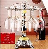 Estante creativo del vino Estante del cubilete del acero inoxidable del sostenedor de la taza del vino rojo Estante del estante del vino de la sala de estar del estante del vino,XXL