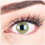 """Sehr stark deckende und natürliche grüne Kontaktlinsen SILIKON COMFORT NEUHEIT farbig """"Grace Green"""" + Behälter von GLAMLENS - 1 Paar (2 Stück) - DIA 14.30 - ohne Stärke 0.00 Dioptrien"""