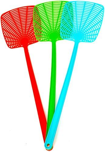 Seiler XXL Fliegenklatsche 3 Stück Insektenvernichter Tennisschläger
