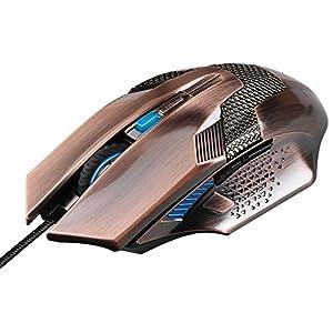 Gaming maus, TeckNet RAPTOR Optische Gamer Maus Gaming Mouse ür Pro Gamer, 6 Taste, LED, Ergonomisches Design, USB-Wired Maus
