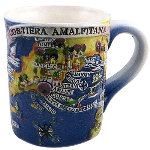 Tazza ceramica vietrese Cartina costiera Amalfitana mug caffè tè latte bevande