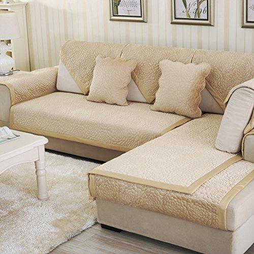 Inverno continentale ispessita flanella in pelle divano cuscini/ pattino di legno solido cuscino di peluche/ telo di copertura divano sedile posteriore-B 90x70cm(35x28inch)