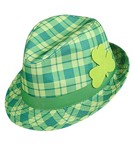 rüner Hut Paddy's Day Irischer Gedenktag (Hut mit Kleeblat) ()