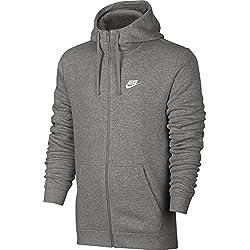 Nike 804389 Sudadera con Capucha, Hombre, Gris (dk Grey Heather), XL