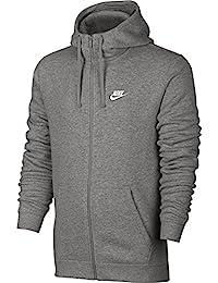 Nike M NSW Club Hoodie FZ BB Chaqueta, Hombre, Gris (DK Grey Heather/DK Grey Heather/White), XS