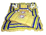 #10: Bachha Baby Boy's And Girl's Swiss Cotton Rabbit Bedding Set Embroidered (Yellow)