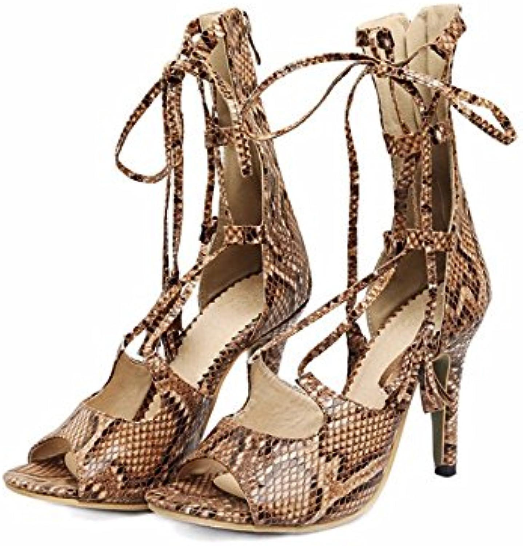 Sandalias de gran tamaño ayudan a refrigerar las botas altas stilettos correa sandalias adornadas boca de pescado...