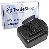 Trade-Shop Premium Li-Ion Akku 12V / 4000mAh / 48Wh für LUX-Tools ABS-12-LI A Akkuschrauber ersetzt ABS12LI Schiebe-Akku