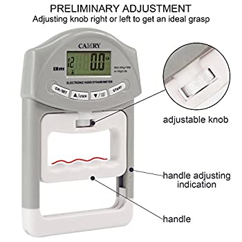 Camry Digital Hand Dynamometer 200 Lbs 90 Kgs Grip Strength Measurement Meter Auto Capturing Hand Grip Power 2