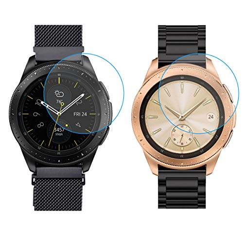 Compatible Samsung Galaxy Watch 42mm Armband/Gear Sport Armband, 20mm Solider Zubehör Edelstahl Metall Ersatz Strap Band Uhrenarmband für Samsung Galaxy Watch SM-R810(Metall Schwarz+Mesh Schwarz )