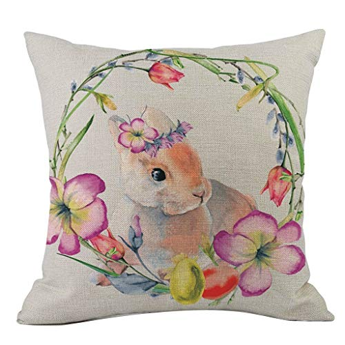 OPAKY Ostern Kaninchen Schlafsofa Dekoration Festival Kissenbezug Kissenbezug