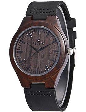 [Gesponsert]Holzuhren Damen natürliche Holz Armbanduhr Holz uhr für Damen mit Verstellbaren Mini Armband Quarzwerk