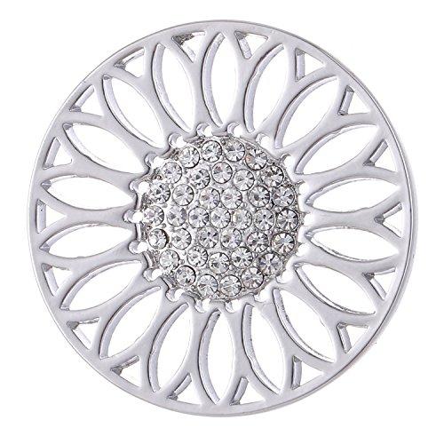 Morella Damen Coin 33 mm Sonnenblume silber