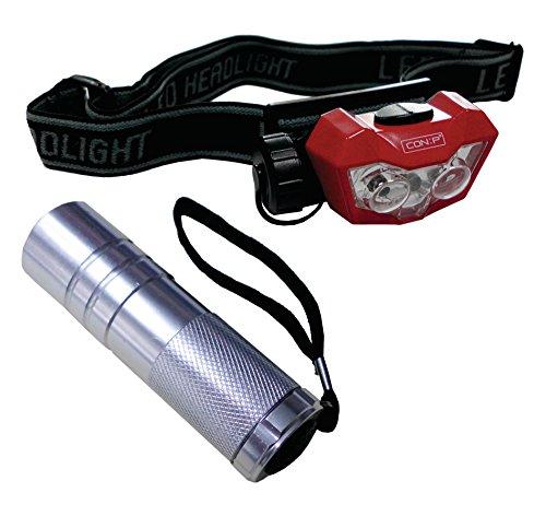 CON:P B29840 Lampenset LED Kopf und Taschenlampe