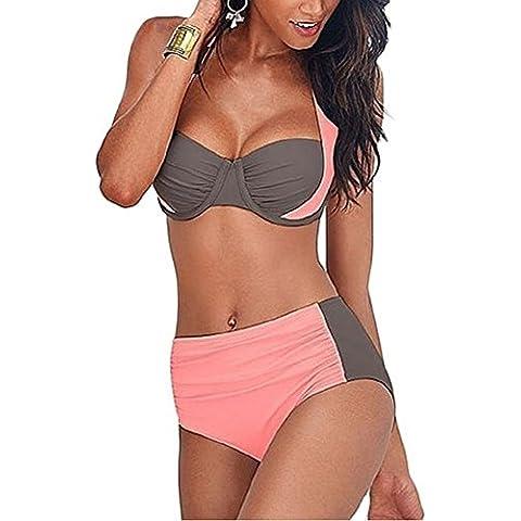 Embryform atractivo de las mujeres empuja hacia arriba escotada sin respaldo acolchado de baño bikini traje de baño