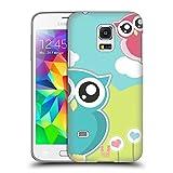 Head Case Designs Pink Und Blaue Liebes Eule Kawaii Serie 1 Ruckseite Hülle für Samsung Galaxy S5 mini