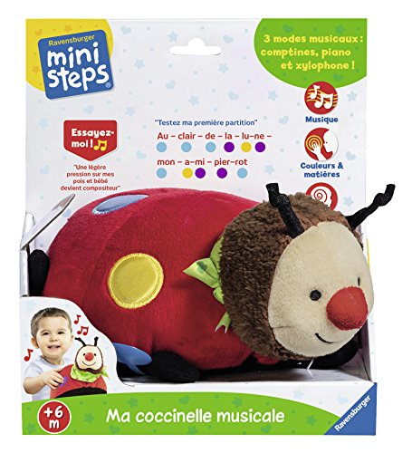 Ravensburger Ministeps 04711 Plüschspielzeug, fröhlicher Musik-Käfer, für Babys